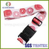 Tas LockおよびDIGITAL Combinationとの工場Price Professional Custom Colorful Printed Logo Adjustable Luggage Belt /Strap