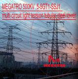 Torretta d'acciaio tubolare di multi del circuito di Megatro 500kv 5-5gt1-Ssj1 tensionamento dell'indicatore luminoso