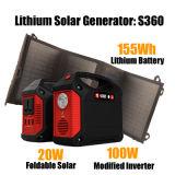 携帯用太陽エネルギーまたはエネルギー発電機の太陽電池パネルの太陽発電所100W