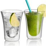 Tasse de jus de froid à double paroi Drinkware tasse tasse en verre de vodka de boissons spiritueux verres tasse