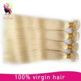 Weave peruano do cabelo humano do Virgin reto louro cheio da cutícula 613