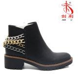 標準的でセクシーな冬は起動するチェーン装飾(AB608)が付いている女性の靴を
