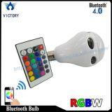 Bulbo remoto esperto do diodo emissor de luz do altofalante do RGB WiFi Bluetooth do controle do telefone