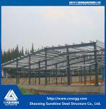 Marco de la estructura de acero 2017 con el material de construcción para el taller
