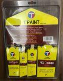 Чисто белая щетка краски щетинки с чисто деревянной щеткой ручки