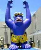 広告のための膨脹可能な漫画の膨脹可能な猿