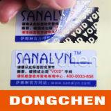 Autocollant d'étiquette de protection anti-sabotage pour animaux de compagnie