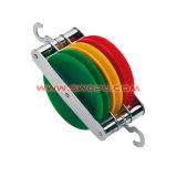 低い摩擦堅いプラスチックナイロンPVC PU二重ベアリングSheaveプーリー/ローラーの車輪