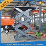 Plate-forme de levage levage d'ascenseur d'entrepôt/d'ascenseur/cargaison hydrauliques de marchandises