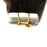 100%の人間のバージンの毛の中国の毛テープ毛の拡張