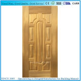 自然で暗いクルミ木製のベニヤによって形成されるHDFのドアの皮