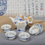 Il POT di ceramica cinese all'ingrosso del tè ha impostato per il regalo come decorazione