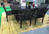Great Waterproof Outdoor Durable Dining Table com grande cadeira de tecido de ratão sintético (YT663)