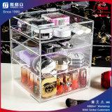 Organisateur de cosmétiques en acrylique avec 3 tiroirs, cloisons amovibles
