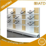 Stapelbares rostfreies MetallstahlPegboard Bodenbelag-Speicher-Bildschirmanzeige-Zahnstange für Telefon-Kasten