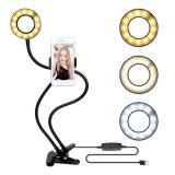 LED de luz de flash Selfie caliente 360 grados con soporte para teléfono