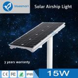 15W iluminación solar al aire libre integrada/toda junta de 2250lm de la calle del jardín