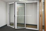 Portelli di alluminio di vetro pieghevoli di apertura multipla doppi