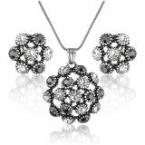 新しいデザイン黒の石のイヤリングのネックレスの方法宝石類セット
