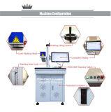 Отметка лазера волокна гравировки криволинейной поверхности цены по прейскуранту завода-изготовителя 3D для металла