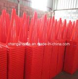 칠레 주황색 유연한 사려깊은 PVC 안전 연약한 교통 표지 콘