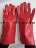 Gants de protection industrielle en PVC de couleur rouge
