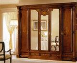 Ritz 침실 가구 미닫이 문 커피 색깔 단단한 나무 옷장