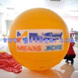 印刷の字体広告膨脹可能な球