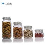 Armazenamento de alimentos de vidro hermético jar/ Mel / Preservar Jar Jar Mason com grampo/braçadeira tampa articulada