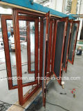 Finestra di alluminio termica della stoffa per tendine di vetratura doppia della rottura di serie 108 con lo schermo dell'insetto da Woodwin Guangdong
