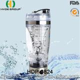 2016 BPAは放すプラスチック電気感動的なコップ、カスタマイズされた450ml電気蛋白質のシェーカーのびん(HDP-0824)を