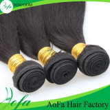 Bonito e sedoso Long Black Straight Virgin Maleian Human Hair