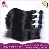 Tessuto peruviano dei capelli umani del Virgin diritto caldo con la chiusura del merletto