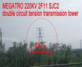 Doppia torretta della trasmissione di tensionamento del circuito di Megatro 220kv 2f11 Sjc2