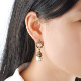 Boucles d'oreille pendantes de perle en cristal de bijou de mode pour Madame