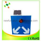 Sinal de tráfego de piscamento do painel solar do diodo emissor de luz