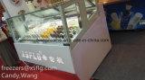 Stock-und Eiscreme-Schaukasten/Gelato Eiscreme-Gefriermaschinen