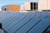 Capteur solaire à panneau plat de projet titanique bleu