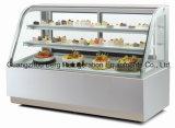 대리석은 세륨을%s 가진 상업적인 케이크 전시 냉장고의 기초를 두었다