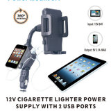 Phone移動式GPS 5V 2.1A Dual USB 12V Cigarette Lighter Multifunction Charging Car Holder