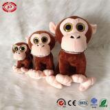 Jouet se reposant mou de grand de yeux de Peeper de modèle singe neuf de peluche