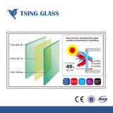 Vidrio laminado de seguridad para la construcción y construcción