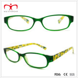 Signore Plastic Reading Glasses con Flower Paper Transfer (WRP409024)