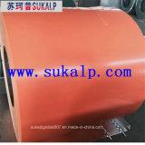 Tiras de aço revestidas de cor