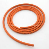 Cer Certified 8mm Orange Braided Rubber Gas Hose