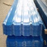 28 Jauge couleur Feuille d'acier ondulé galvanisé tôle de toit