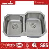 ステンレス鋼の台所の流し、流し、ハンドメイドの流し、台紙の倍ボールの台所の流しの下のステンレス鋼
