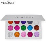 La meilleure palette cosmétique de vente de fard à paupières de scintillement de couleurs du renivellement 15 de Veronni
