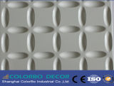 el panel decorativo de la pared de la onda de la decoración interior 3D