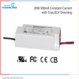 TUV Approuvé 20W 500mA courant constant Triac / Elv Dimmable LED Driver